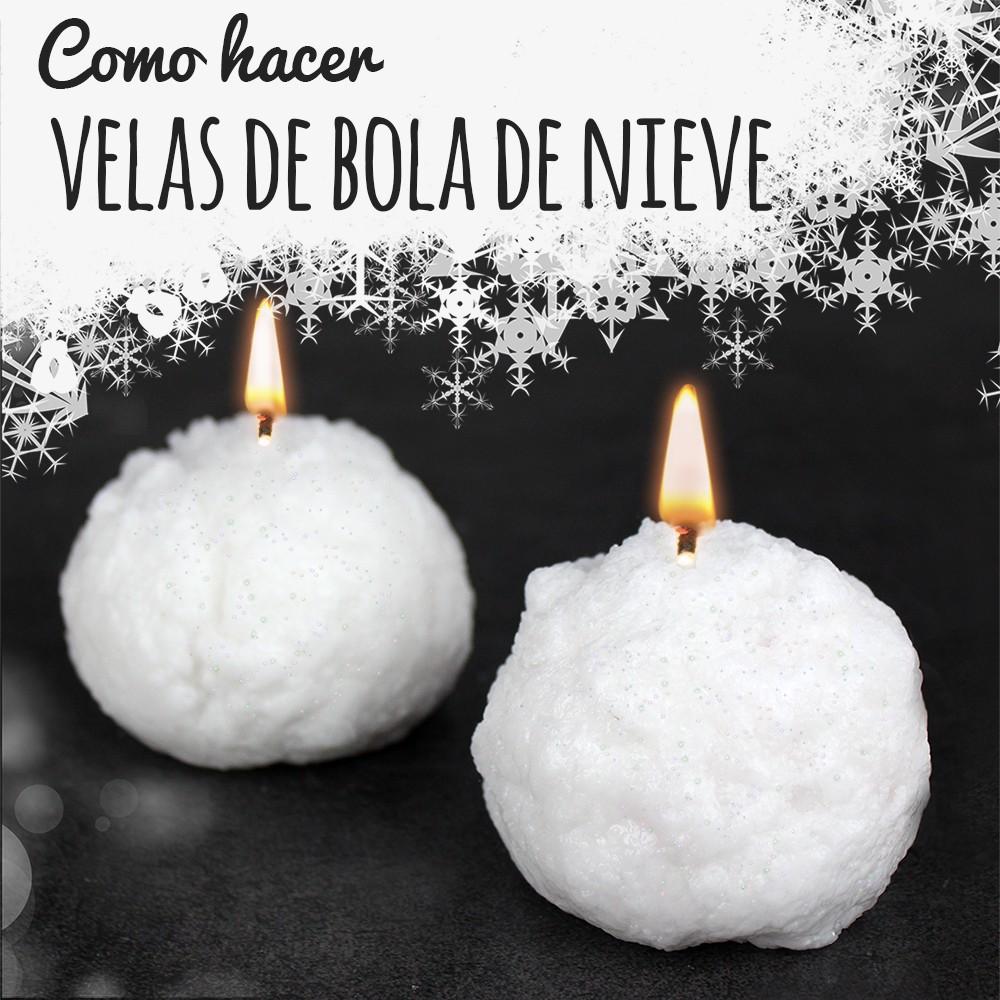C mo hacer velas bola de nieve en casa para sta navidad for Como hacer velas aromaticas en casa