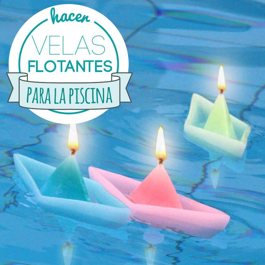 Velas flotantes piscina hechas en casa de flores estrellas for Hacer piscina climatizada en casa