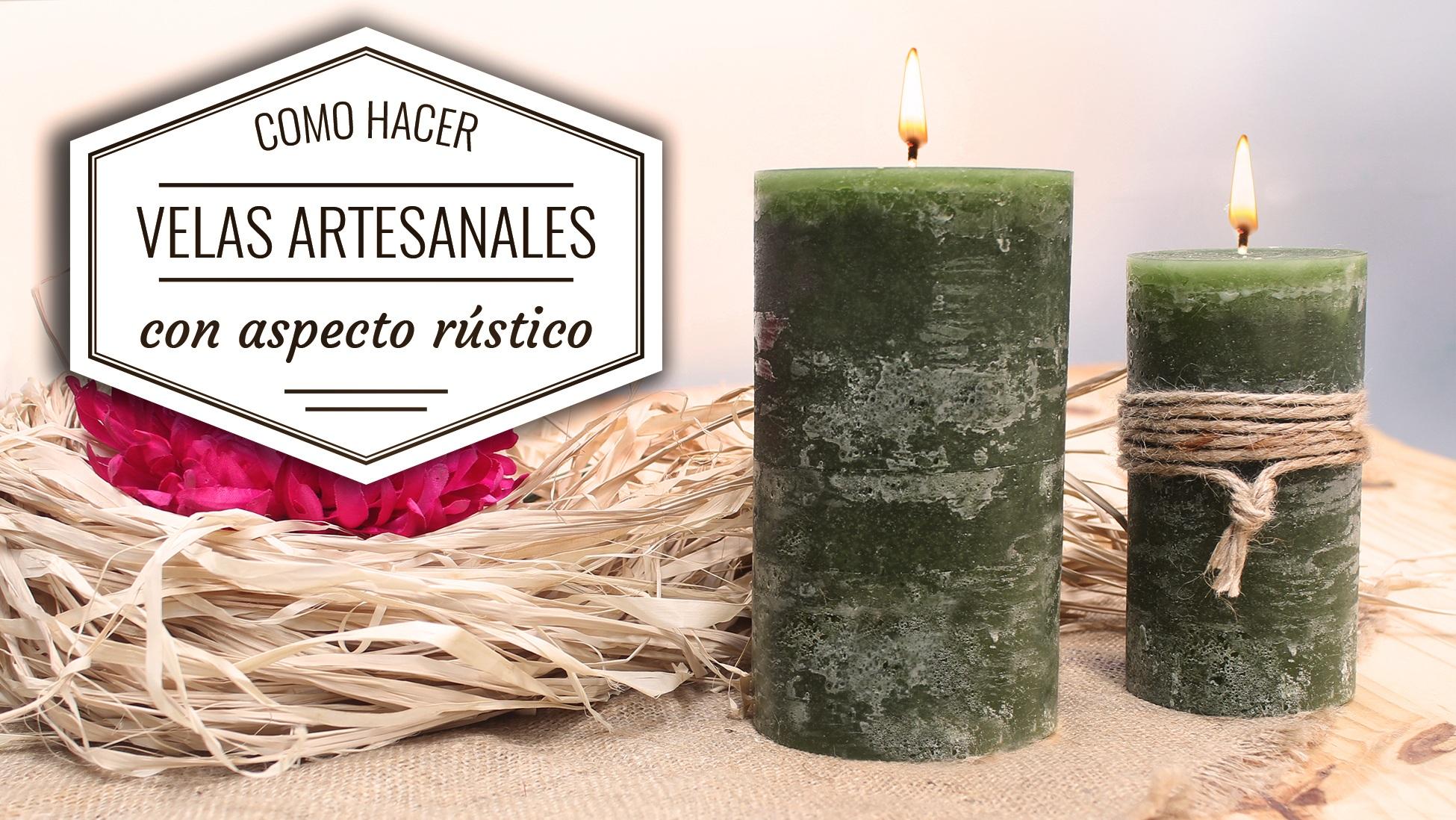 Receta de velas artesanales con aspecto rustico hechas en - Como hacer velas flotantes ...