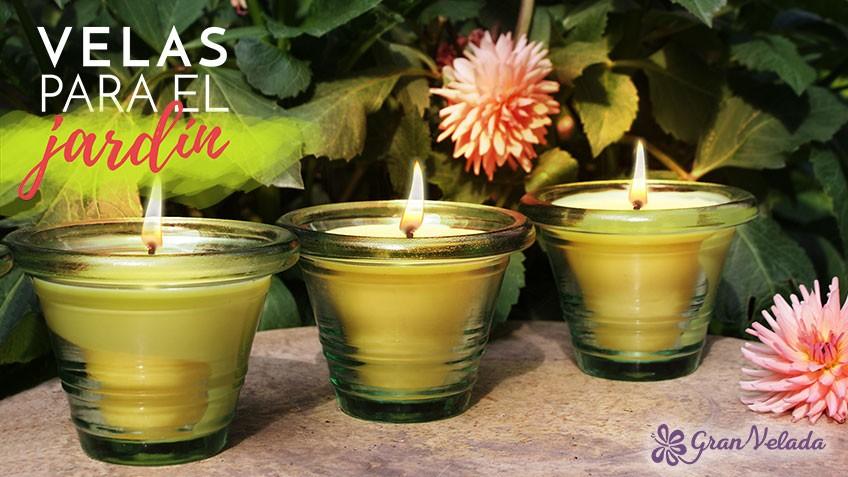 Velas para jardin de citronela aprende como hacerlas - Vallas decorativas para jardin ...